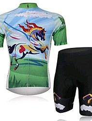 Tengma SPEED Cycling Wear Short Sleeved Suit, Moisture Cycling Wear, Motor Function Material