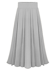 Women's Sexy Casual Cute Maxi Inelastic Thin  Skirts (Chiffon)
