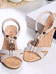 Sakura   Women's Shoes Black/Almond Wedge Heel 0-3cm Sandals