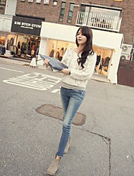 Women's Tight Thin Wear White Jeans