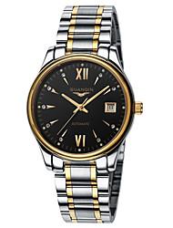 GUANQIN® Men Automatic Self-winding Waterproof Sapphire Crystal Calendar Luxury Rhinestone Steel Band 38mm Wrist Watch Cool Watch With Watch Box