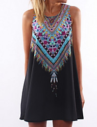 Women's Round Dresses , Polyester Beach/Casual/Party Sleeveless Koro