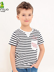 2015 Boy's Summer Striped Cotton Plane T-shirts Short Sleeve Teen Tees Leisure Sport Children's Clothing Kids Clothes