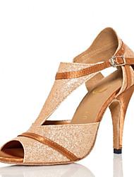 Zapatos de baile (Oro) - Salsa - No Personalizable - Tacón de estilete