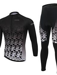 Fahrradtrikots mit Fahrradhosen Herrn Langärmelige Fahhrad Atmungsaktiv / UV-resistant / tragbar / 3D Pad / Tasche auf der RückseiteBib -