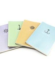 X - BOOK  A5-96 the High-grade Frosted Rubber Lining Notebooks (Log) (4 Books Per Pack)   A5-96 - JT - 96