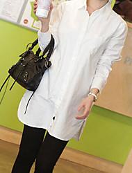 Women's White Shirt , Shirt Collar Long Sleeve