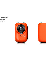 W6  No screen 1080P Full HD Helmet Bicycle Outdoor Sports Digital Action Camera  (Orange)