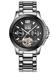 GUANQIN® Men's Automatic Mechanical Hollow Watch Stainless Steel Ceramic Waterproof Luminous Men Sport Watch Wrist Watch Cool Watch  With Watch Box