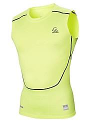 T-shirt -( Rose dragée ) de Cyclisme - Respirable/Séchage rapide/mèche/Compression  à Manches courtes Homme Haute élasticité S/M/L/XL