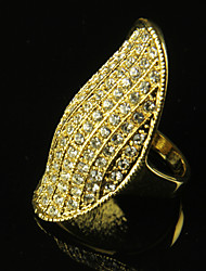 Ring Fashion Party Jewelry Alloy Women Band Rings 1pc,One Size Gold