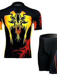 The Devil Totem Short Sleeved Riding Clothes Suit, Moisture Cycling Wear, Motor Function Material