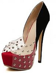 Women's Shoes  Stiletto Heel Platform Sandals Casual Red