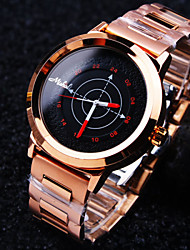Unisex Round Simple Luxury Imported Steel Case Dial Mineral Stainless Steel Band Waterproof Quartz Watch