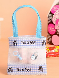 Non Woven Fabric Baby Shower Candy Favor Bags Set of 12
