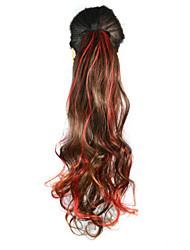 Synthetic Queue de cheval Ondulé Micro Ring Hair Extensions Queue de cheval 20inch gramme Moyen (90g-120g) Quantité