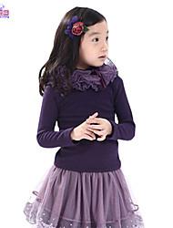 Children Winter Kids Girls Long Sleeve 3-7 Years Solid Velvet Top Clothes