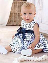 Girl's  Fashion Leisure Bowknot Sleeveless Dress