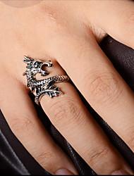 Homens Maxi anel bijuterias Liga Dragão Jóias Para Festa Diário Casual Presentes de Natal
