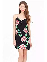 Women's Print Strap Dress