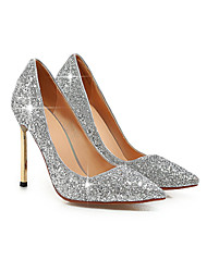 Women's Shoes Glitter Stiletto Heel Pointed Toe Pumps/Heels Wedding/Dress Black/Blue/Red/Silver/Gold