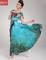 Muairen®Women'S Holiday Beach Marine Dress Put On A Large Waist Dress