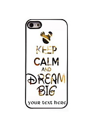 Personalized Gift Keep Calm and Dream Big Design Aluminum Hard Case for iPhone 5/5S