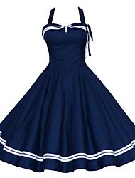 Maggie Tang Women's 50s VTG Retro Nautical Sailor Rockabilly Hepburn Pinup Swing Dress 515