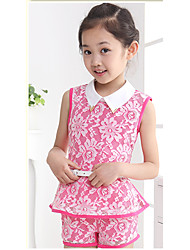 Girl's Cotton Clothing Set , Summer ½ Length Sleeve