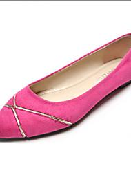 Женская обувь Дерматин На плоской подошве С острым носком/С закрытым носком Обувь на плоской подошве На каждый день Черный/Синий/Розовый