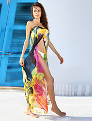Contrast Color Pareo Beach New Fashion Beach Cover up Dress Swimsuit Summer Print Beach Wear