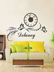 DIY Modern Butterfly Wall Clock
