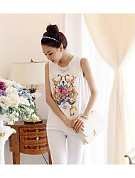 Women's White Blouse Sleeveless
