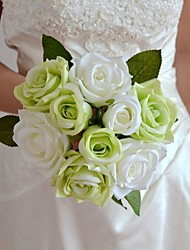 "White Green Blue Red Purple Rose Bouquet 7.87"" Each Bouquet 6 Heads with 3 Buds"