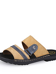 Men's Shoes Casual Leather Sandals Blue/Khaki