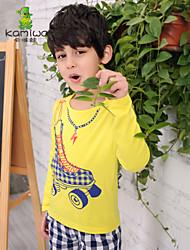 KAMIWA®Boy's Winter/Spring/Fall Roller-Skates Yellow Long Sleeve O-neck Tees/T-shirts Kids Children Clothing(Cotton)