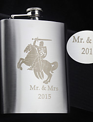Personalized Stainless Steel Hip Flasks 8-oz the Knight  Flask