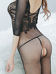 Feminino Roupa de Noite Lingerie com Liga/Ultra Sexy/Conjunto Feminino Nylon
