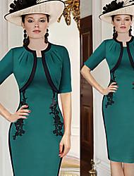 Robes ( Coton ) Vintage/Bodycon/Informel/Soirée/Travail Femme
