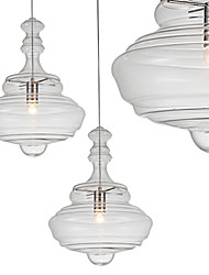 Artistic Pendant Lamp/1 Light/Modern SimplicityColorless/Clear/Glass