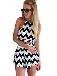 Catherin Women's Casual Halter/Twist Sleeveless Suits