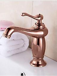 "8 "" Brass Torneira Bathroom Basin Faucet Single Handle Rose Gold Finish Basin Sink Taps Mixer"