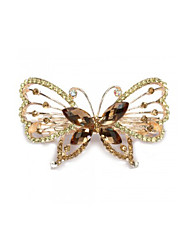 Hair Barrette Clip Hairpin Metal Crystal Glass Butterfly Women Hot