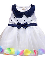 Children Kids Baby Girls Cotton Tulle Summer Doll Collar Petal Dress Clothes