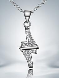 venta caliente plateado ocasional plata vestido de iluminación colgante collar de accesorios de moda finos