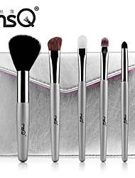 MSQ® 5pcs Makeup Brushes set Pony/Goat/Horse/Wool Hair Hypoallergenic/Limits bacteria Blush brush Eye Shadow Brush Lip Brush Brow Brush Makeup Kit
