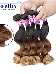"""3 PC / porción 16 """"-24"""" 7a 3t extensiones brasileñas virginales del pelo onda floja 100% pelo sin transformar ombre humano virginal teje"""