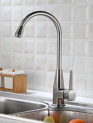 Deck Mounted Single Handle One Hole with Brushed Kitchen faucet