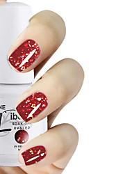 LIBEINE 1pc Soak Off 15 ML UV Gel Nail Polish Color Gel Polish 014# Night Queen Glitter Red