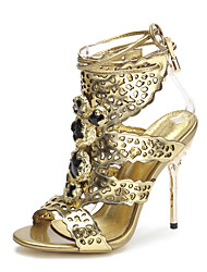 Women's Shoes Leather Stiletto Heel Heels / Slingback / Gladiator / Open Toe Sandals Party & Evening / Dress / Casual